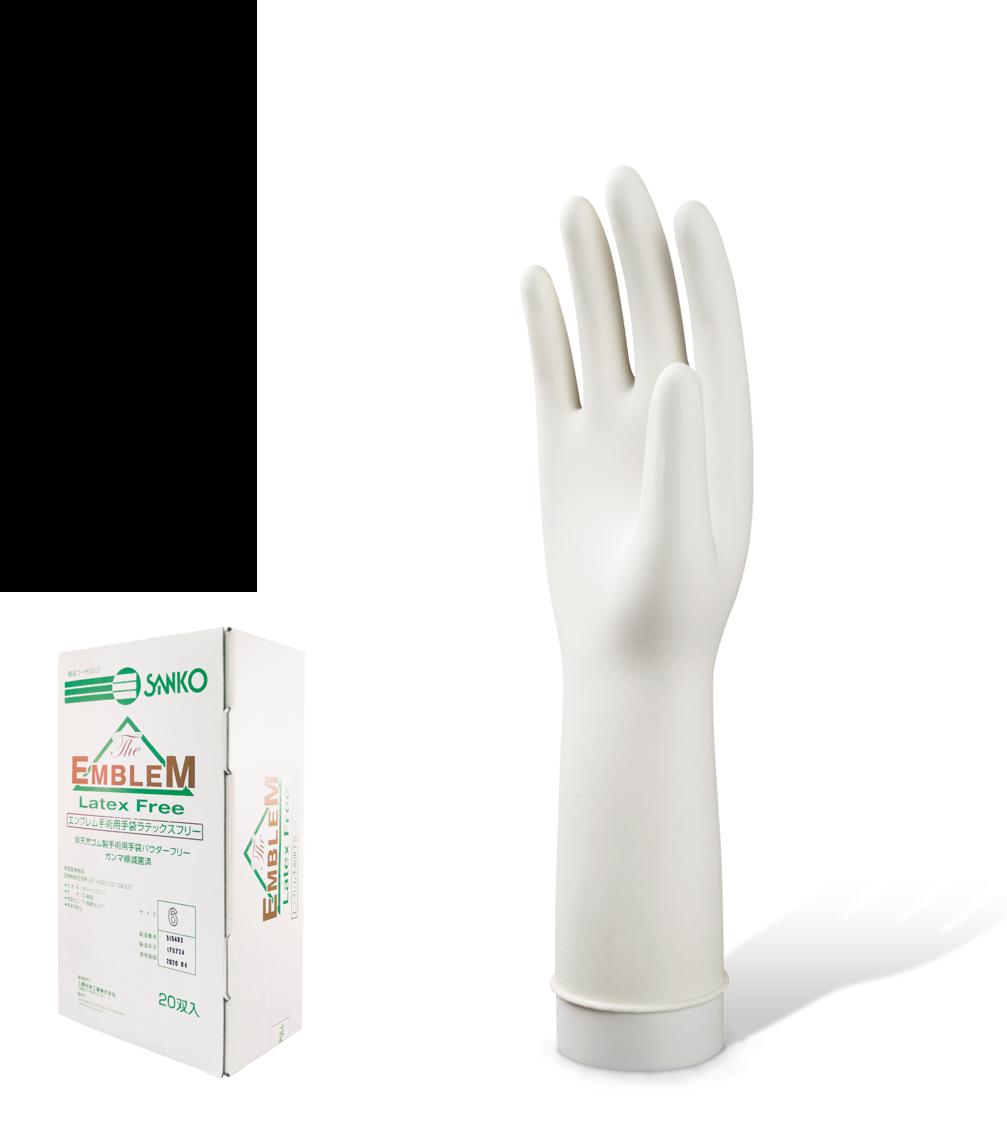 エンブレム手術用手袋 ラテックスフリー